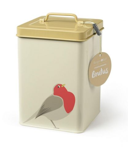 Burgon & Ball Storage Tin with Brutus the Robin