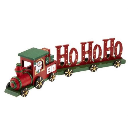 Handcrafted Wooden Advent Train