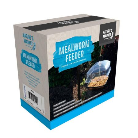 Hanging Mealworm Feeder With Canopy