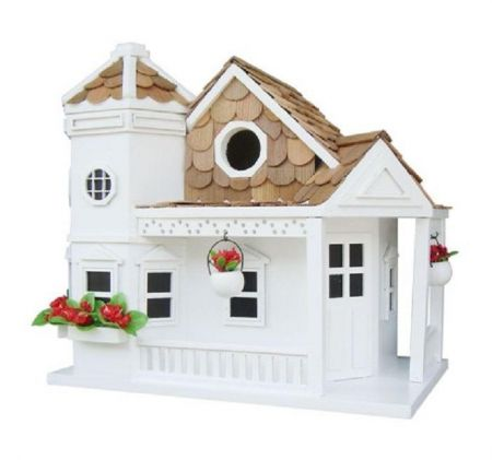 Wild Bird Nesting Box/Birdhouse Seacliff Cottage Design in White