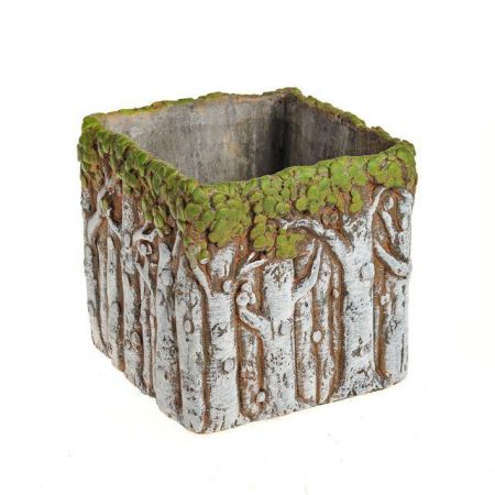 Enchanted Trees Square Planter Plant Pot Made from Concrete