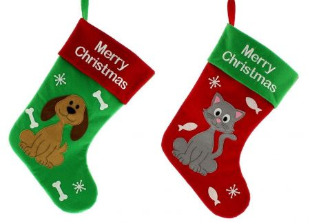 Cat Christmas Stocking.  Fill with your own treats. 39cm