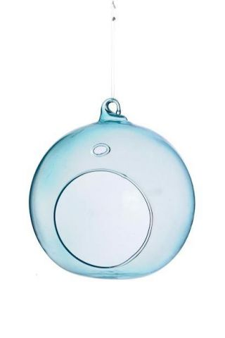 Glass Bauble Tealight Holder in Pastel Colours