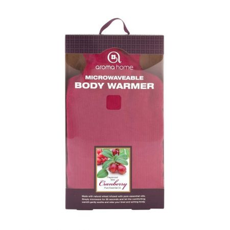 Soothing Body Warmer with Cranberry. Heat Treatment. Burgundy