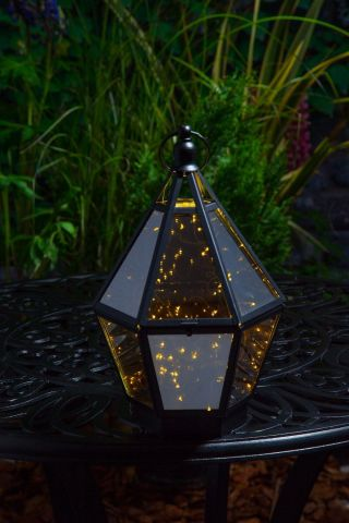 Starry Nights Lantern with Battery Operated LED Lights.  31cm Tall