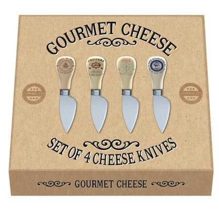 NEW Set of 4 VINTAGE STYLE Gourmet Cheese Knives in Gift Box