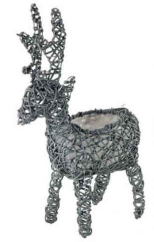 Reindeer Planter Made from Weatherproof Rattan