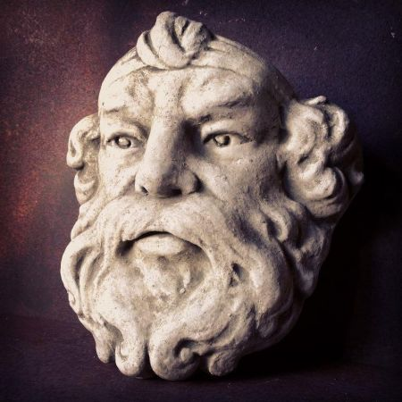 Neptune Wall Planter Made from Reconstituted Stone