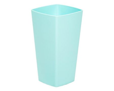 16cm Tall Squared Pot Plant Cover in DUCK EGG BLUE