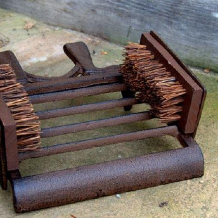 Vintage Style Country Boot Scraper,Brush and Jack