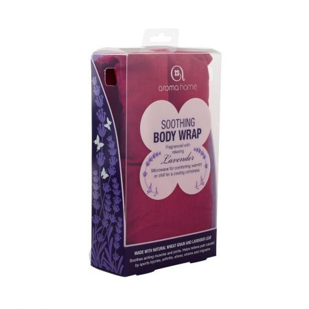 Soothing Hot or Cold Body / Neck Wrap with Lavender. Heat Treatment. Burgundy