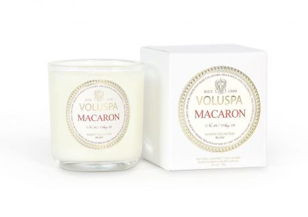Voluspa Maison Blanc Macaron 3oz Boxed Votive Luxury Candle