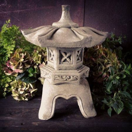 Oriental Pagoda Lantern Made From Reconstituted Stone Garden Ornament Tendai Design