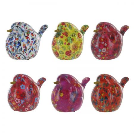 Pomme-Pidou Tiki Bird Money Box. Colourful and collectable. Choose colour.