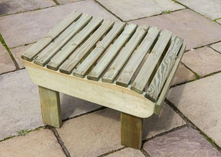 Wooden Garden Lily Relax Footstool