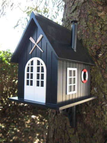 Wild Bird Nesting Box/Birdhouse in the shape of a Windermere Boat House British Designed