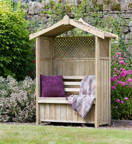 Wooden Garden Dorset Arbour with Storage Box