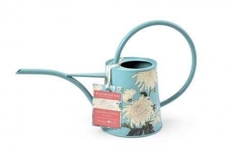 Burgon & Ball RHS Gift Indoor Watering Can.  Chrysanthemum Design Design