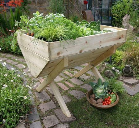 Wooden Garden Vegetable Bed 1M