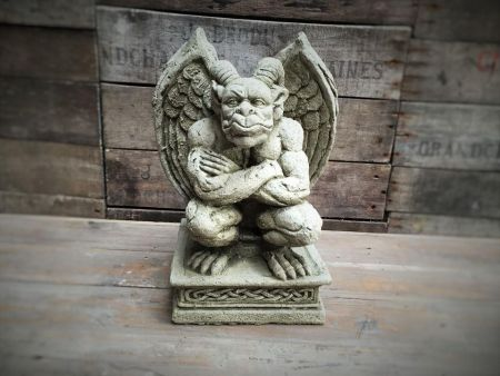 Sitting Devil Statue Made from Reconstituted Stone
