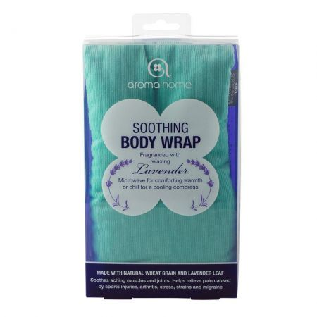 Soothing Hot or Cold Body / Neck Wrap with Lavender. Heat Treatment. Turquoise
