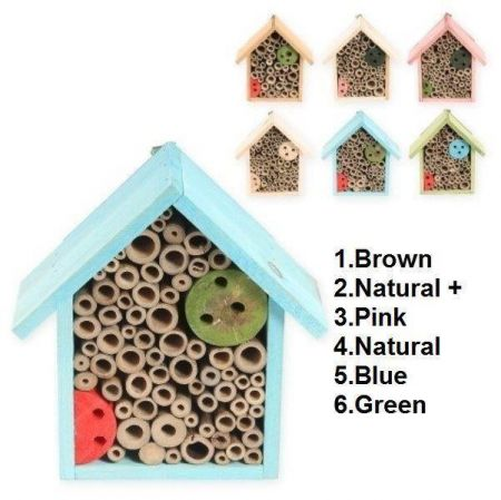 Insect Hotel - Insect Biome - Bug House in pink colour