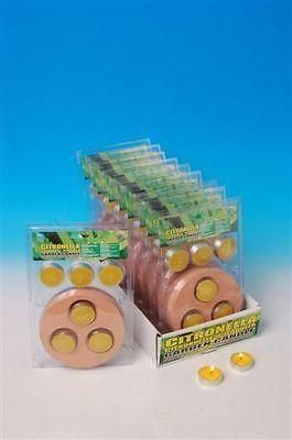 Citronella Tealights x 6 with Terracotta Holder.
