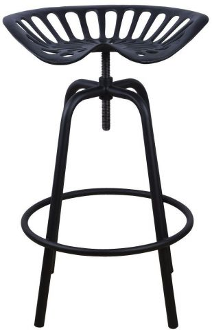Vintage Tractor Seat Stool. Quirky - Black