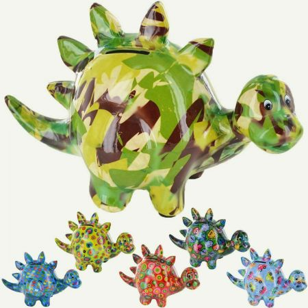 Zorc the Dinosaur collectable money box by Pomme pidou. Choose your moneybox colour