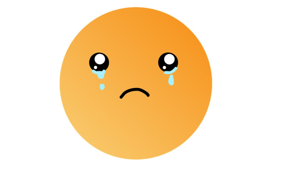 Sad face for those suffering from a loss