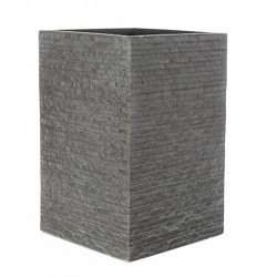 contemporary resin pot or container that looks like stone.