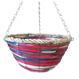 Basket pink and blue coco stem