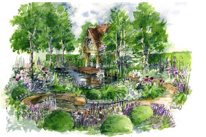 The M&G Garden at Chelsea by Jo Thompson garden designer