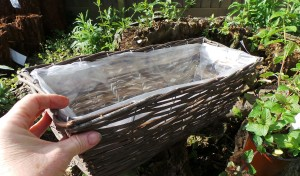 1 - Empty basket - make holes in the linerSMALL