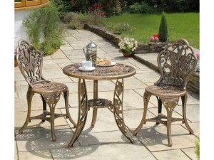 Dining outdoors in the garden at this table and chairs