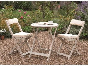 bistro set table and two chairs for the garden.