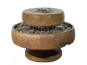 millstone fountain water feature for the garden