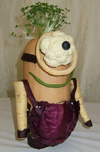 Vegetable Minion have fun with vegetables