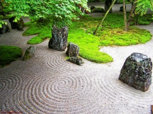 Japanese garden should look natural