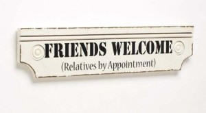 Friends welcome, sign, Christmas, story, Xmas