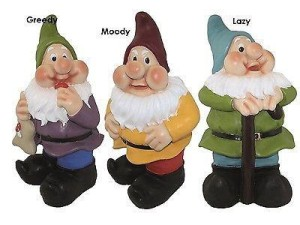 Gnomes, garden, ornaments, luck, family, elderly, ornaments, sculptures