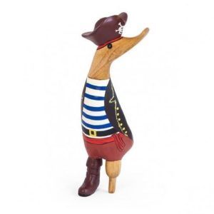 wooden duck, duck, pirate, Christmas, gift, present