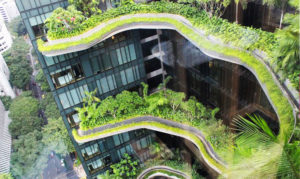 Hotel, vertical gardens, greening, sustainable, planting, plants, health, Singapore, gardening, balcony, roof garden