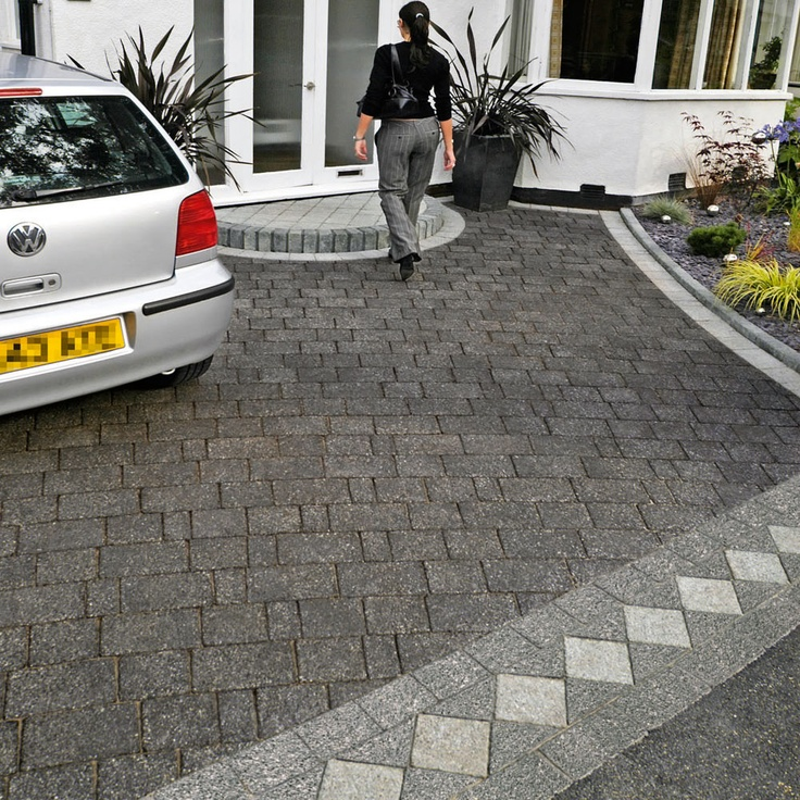 Front Garden Parking Cars Driveway Paving Patio Fashion Car
