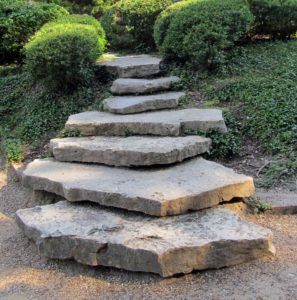 steps, garden, quirky, levels, design, stone, stepping, garden steps, stairs, design, garden design, gardening, small garden, perfectplants.co.uk,