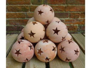 star ball, star lantern, garden lantern, terracotta lantern, garden lighting, tealight, terracotta, perfectplants.co.uk,