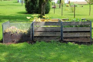 Compost heaps in a garden are very important and during the winter they should be covered with a carpet