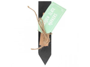 Set of slate markers for the garden. plant markers with chalk,