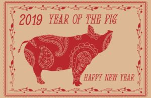 The Chinese New Year takes place on 5 February 2019 when the Year of the Pig commences